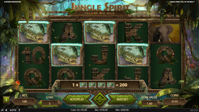 Характеристики слота Jungle Spirit: Call Of The Wild 7