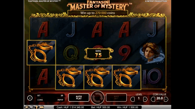 Характеристики слота Fantasini: Master Of Mystery 8
