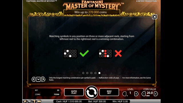Бонусная игра Fantasini: Master Of Mystery 4