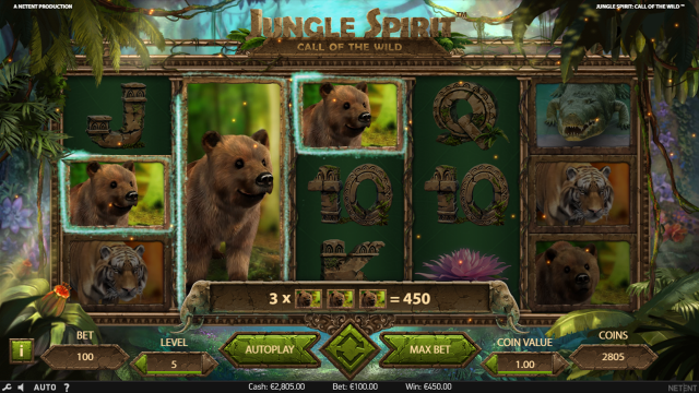 Бонусная игра Jungle Spirit: Call Of The Wild 8