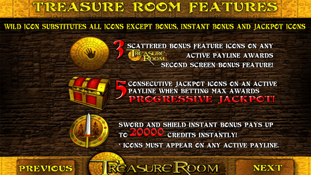 Характеристики слота Treasure Room 4