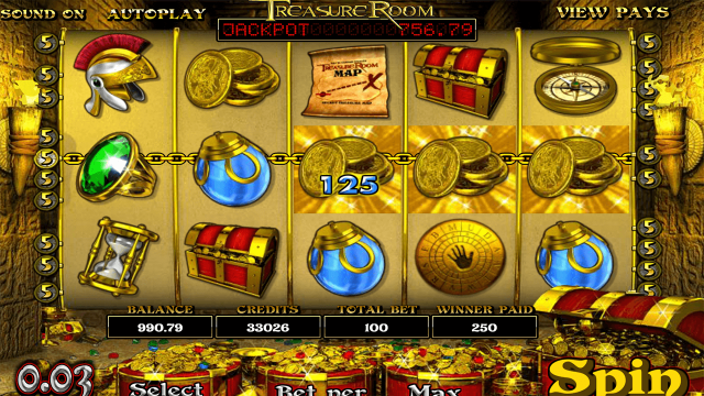 Характеристики слота Treasure Room 2
